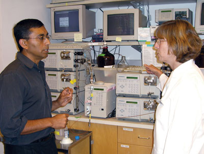 <figcaption>Ajit Varki with his long time lab manager Sandra Diaz at the University of California San Diego. Credit: COURTESY OF AJIT VARKI</figcaption>