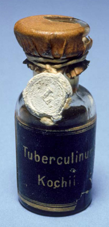 <figcaption>A vial of Koch?s Tuburculin from 1895 resides at Charité Hospital, Berlin. Credit: Courtesy of Terry Sharrer</figcaption>