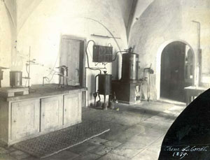 <figcaption>Miescher's laboratory located in an old T&#252;bingen castle
