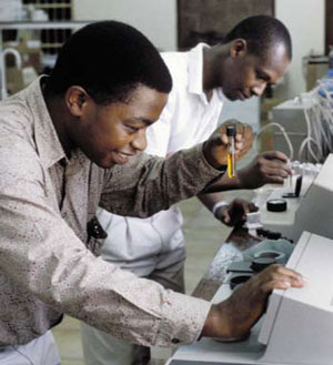 <figcaption>Laboratory class at the Ardhi Institute in Tanzania Credit: &#169; Jorgen Schytte / Peter Arnold Inc.</figcaption>