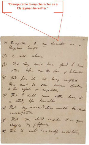 <figcaption>In a letter to his father, Robert, Charles listed the elder Darwin's